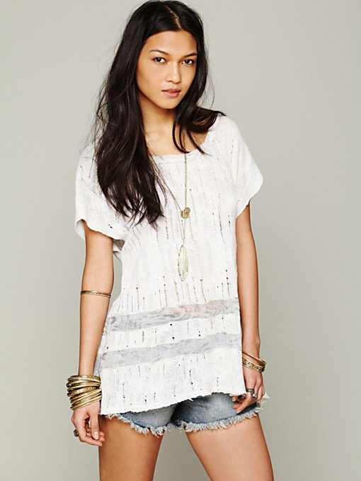 Free People Godet Back Tunic in tunic-sweaters