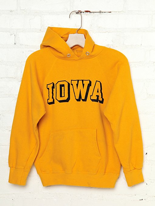 Vintage Iowa Hooded Sweatshirt in tops-3