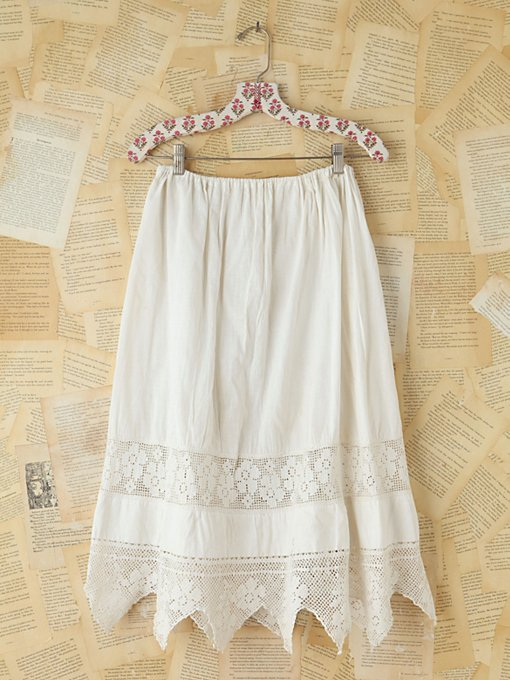 Free People Vintage Victorian Cotton Skirt in vintage-skirts
