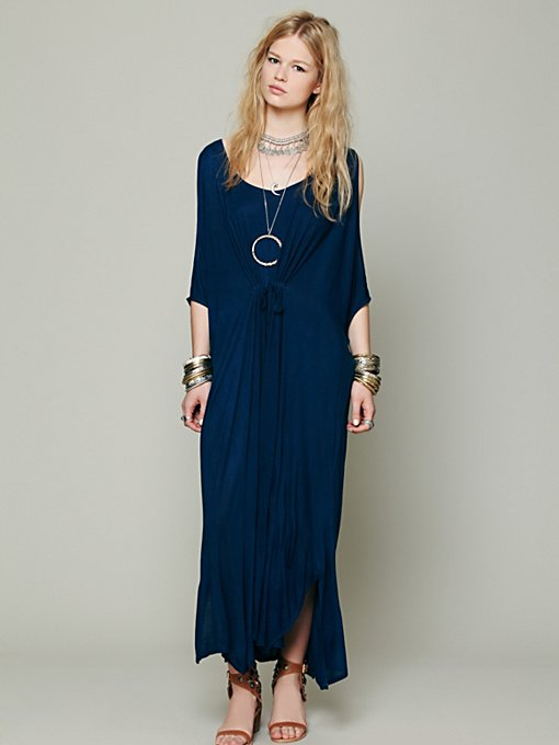 Cold Shoulder Long Kaftan in clothes-dresses-maxi