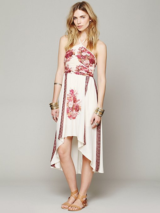 Place Print Halter Dress in sale-all-sale