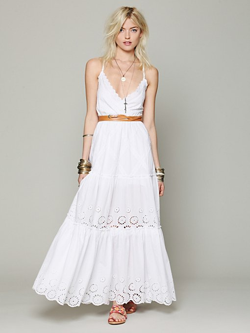 Free People Ophelia Eyelet Maxi Dress in maxi-dresses