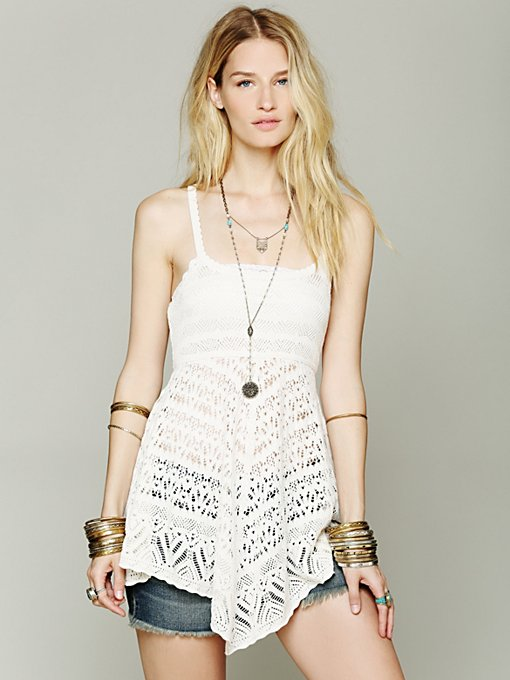 Free People Crochet Tunic in knit-tops