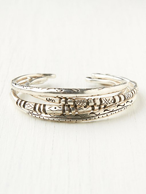 Stack Etched Metal Set in bracelets