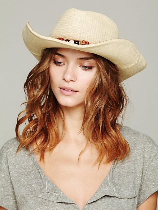 Shiko Straw Cowboy Hat in accessories-hats-fedoras-caps