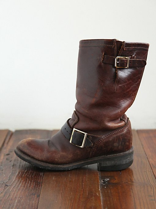 Vintage Rugged Leather Boots in vintage-loves-shoes