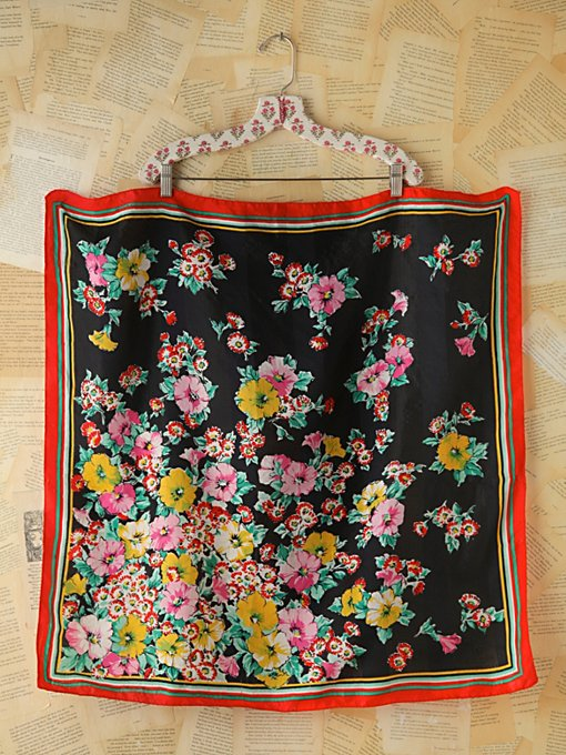 Vintage Floral Printed Scarf in vintage-loves-accessories