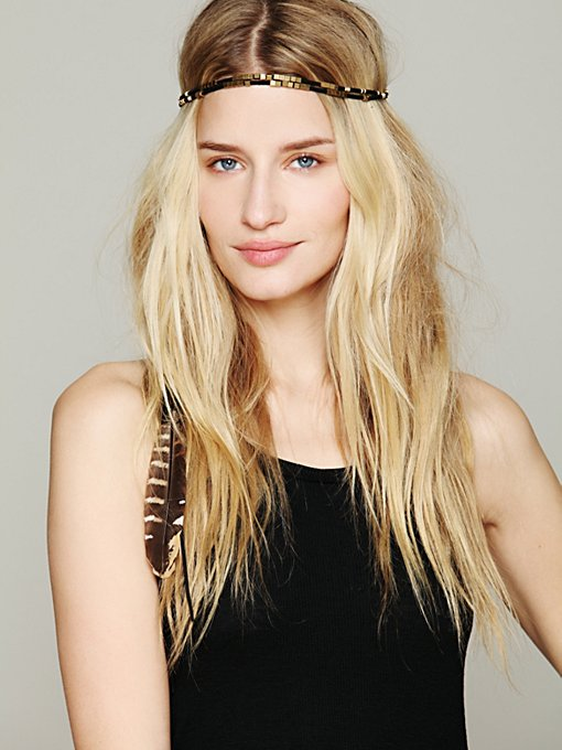 Black Feather Halo in Hair-Accessories