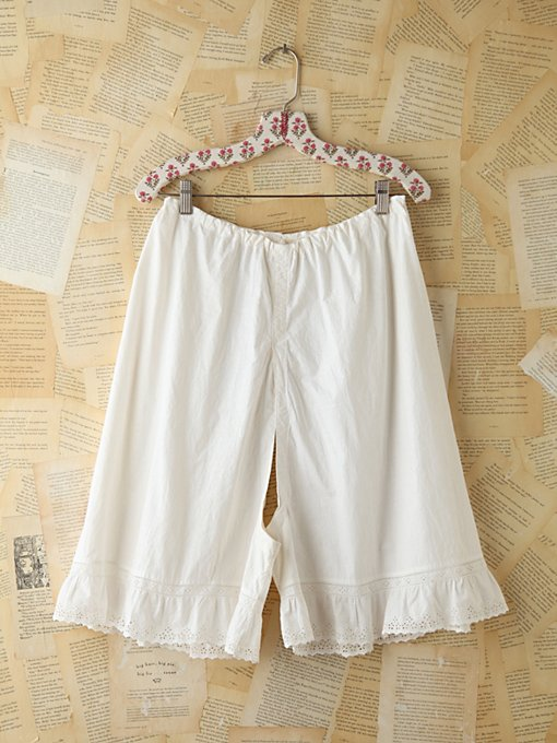 Free People Vintage Cotton Breeches With Lace in vintage-skirts