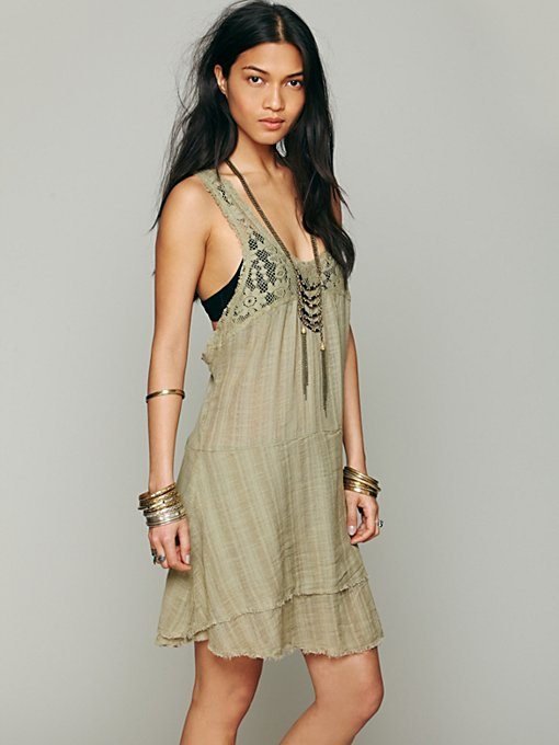 Free People Apron Back Dress in Mini-Dresses