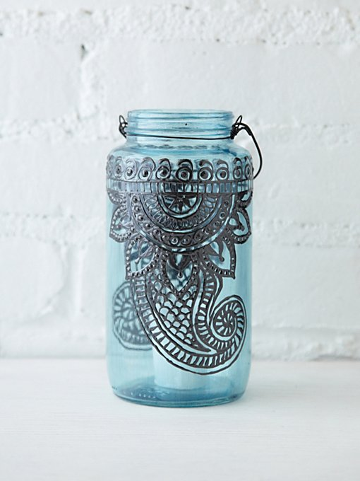 LitDecor 32 Oz Mason Jar Lantern in Boho-Beauty-2