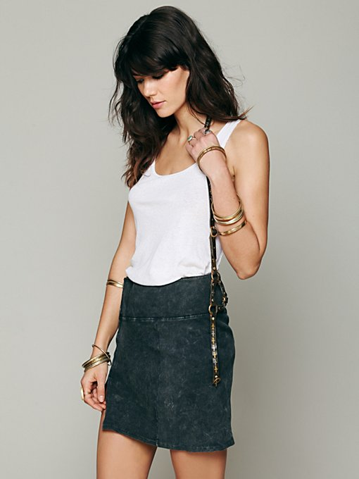 Calleen Cordero + Free People Leather Cross Harness in Belts