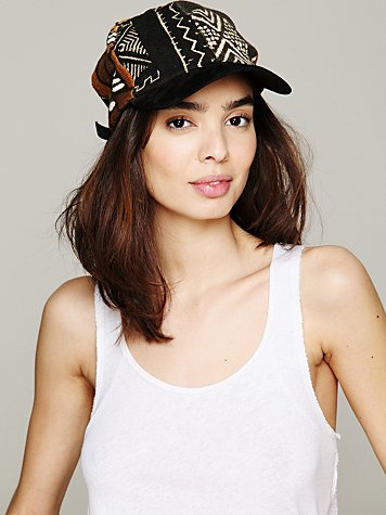 Free People Mud Cloth Baseball Hat