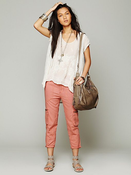 Free People Linen Utility Pant in Skinny-Pants