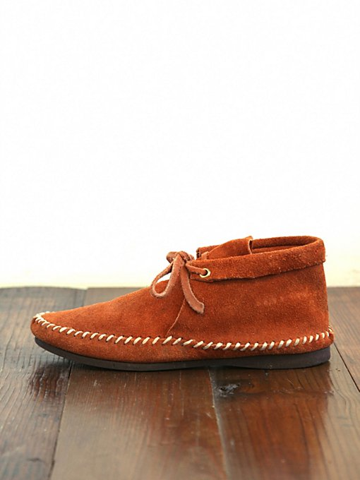Free People Vintage Suede Ankle Moccasins in vintage-shoes