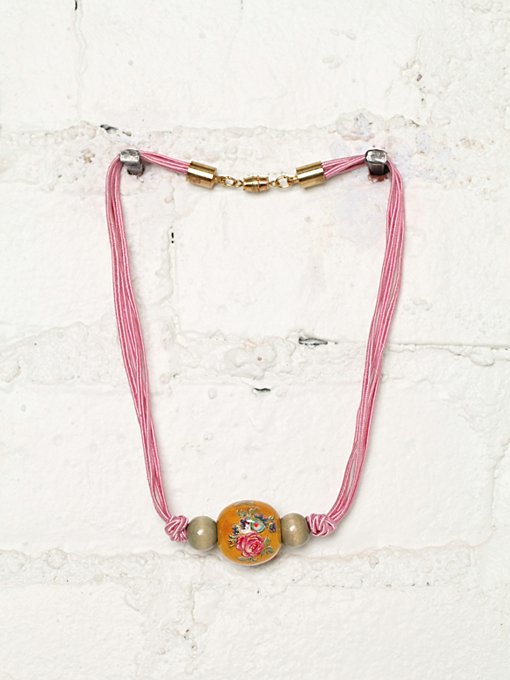 Free People Vintage Bead and Chord Necklace in Vintage-Jewelry