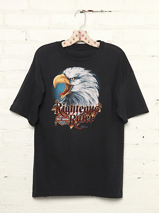 Vintage Harley Davidson Righteous Rider Graphic Tee in Vintage-Loves-vintage-tees