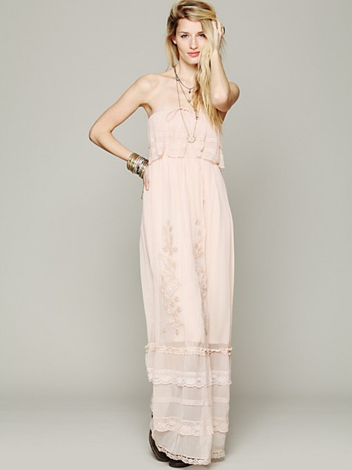 Maddie Embroidered Silk Maxi
