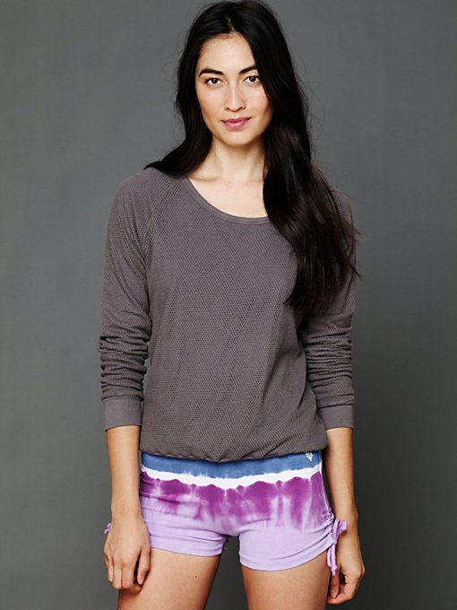 Solow Sport Tie Dye Cycle Short in Yoga-Clothes