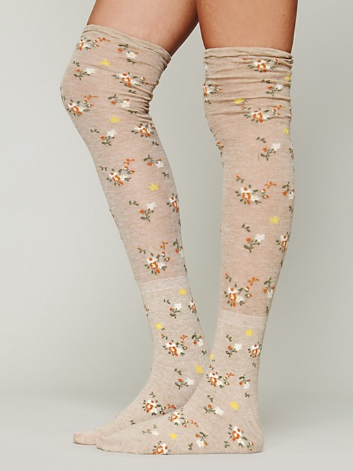 Botanic Garden Thigh High in womens-ankle-socks