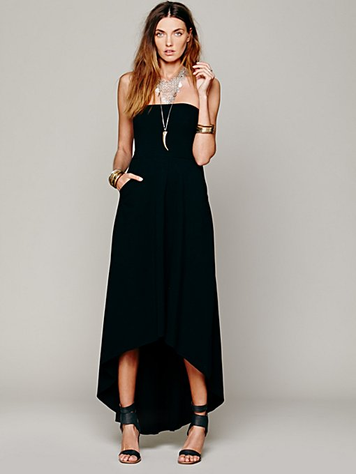 Free People Solid Kristal's Maxi in strapless-maxi-dresses