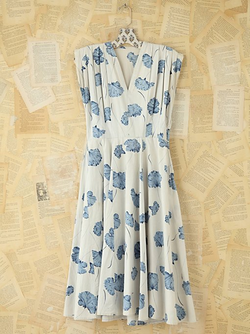 Free People Vintage Floral Printed Dress in Vintage-Dresses