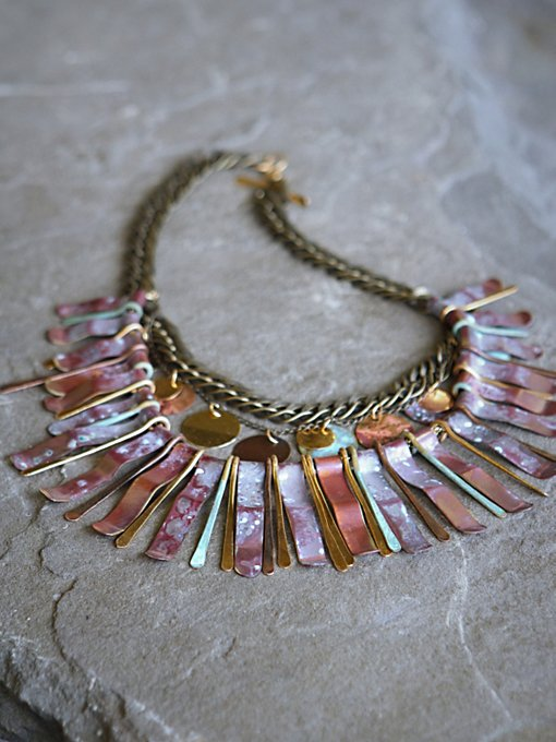 Sibilia Ramses Patina Collar in bohemian-necklaces