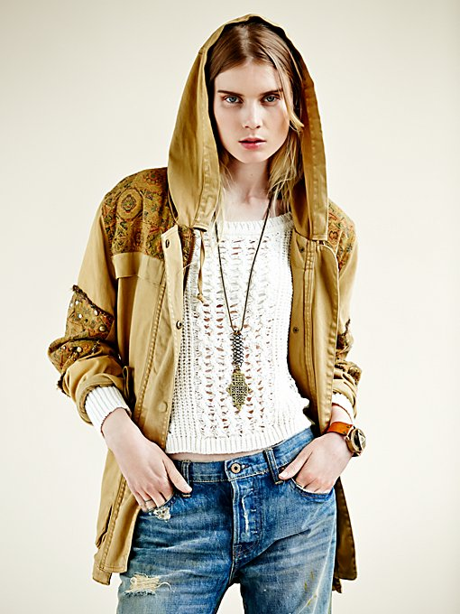 Free People Crafted Cloth Tapestry Jacket  in Coats