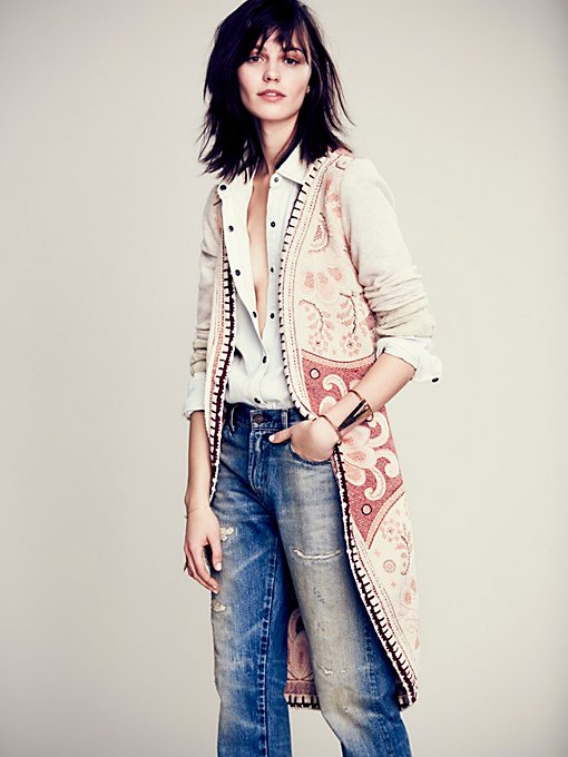 Free People Tapestry Cardigan in Coats