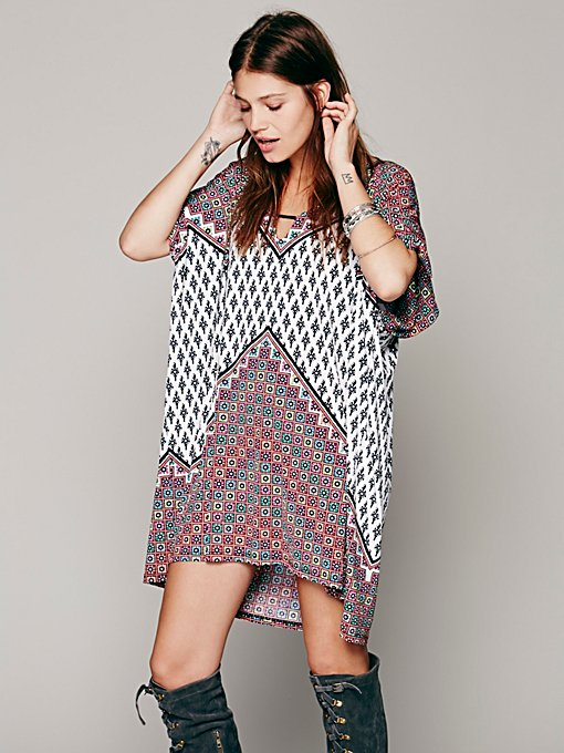 Tigerlily Sarasa Printed Mumu in Dresses