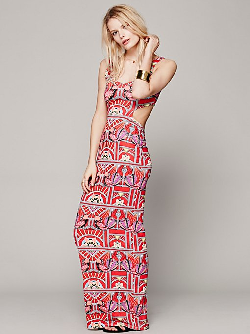 Mara Hoffman Swim Ananda Cutout Maxi Dress in Dresses