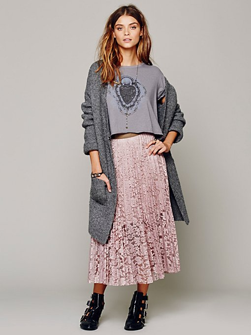 Free People Pretty Pleats Skirt