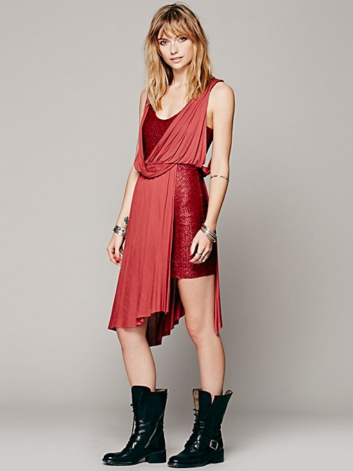 Free People Elanore Mini Wrap Dress in Dresses