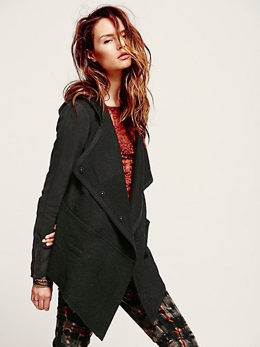 Free People Drippy Wool Jacket in Coats