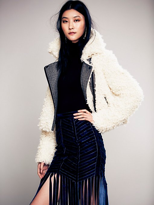 Free People Shaggy Sherpa Coat in Coats