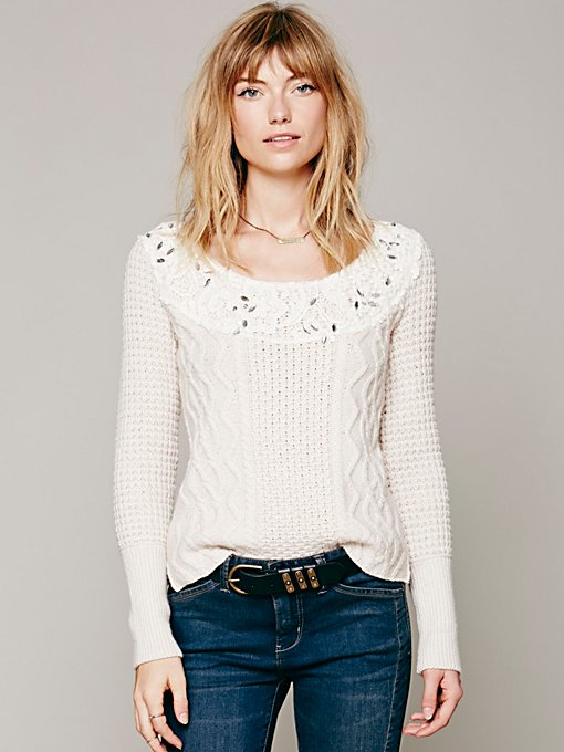 Free People Winters Sparkle Pullover