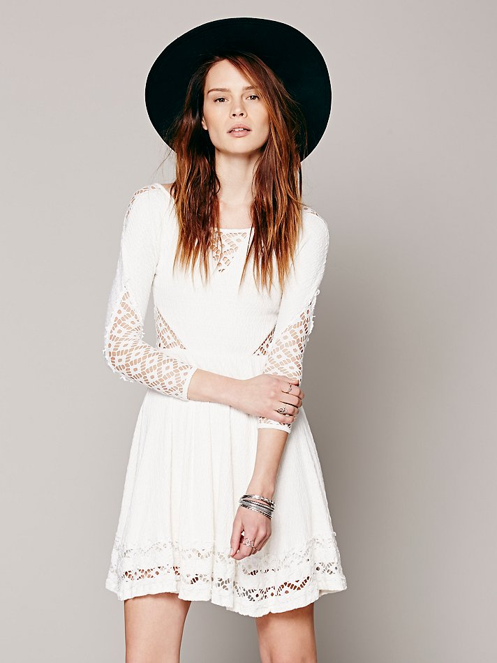 Free People To the Point Fit & Flare | Pinterest Picks - Free People White Dresses