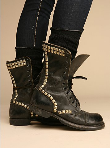 Studded Vintage Combat Boot at Free People Clothing Boutique