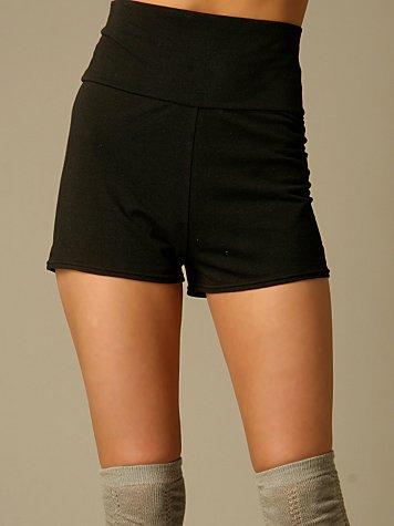 Shortie High Waisted Shorts :  high waist fashion black shorts